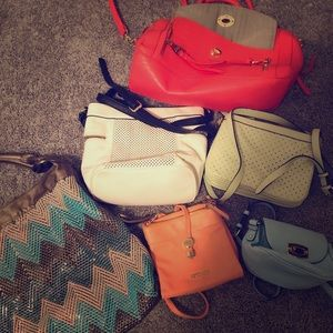 6 hardly used purses